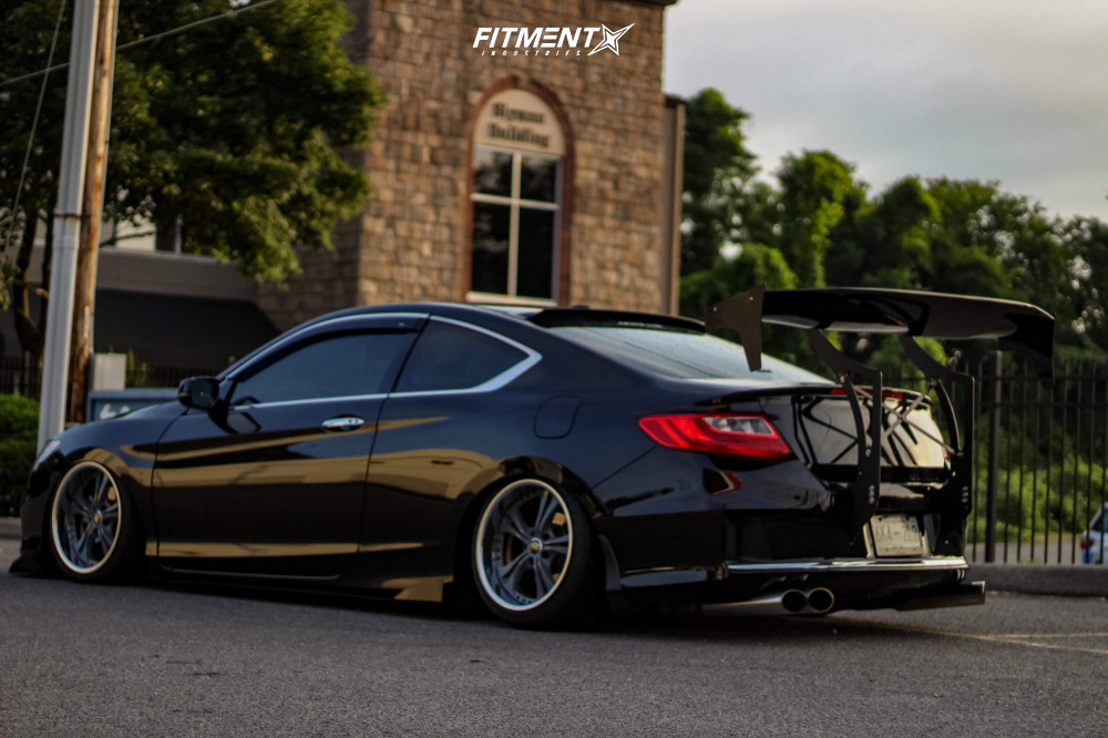 Nearly Flush 2014 Honda Accord with 18x10 Weds Kranze Cerberus Ii and Federal 595 Rs-r 225/40 on Air Suspension - Fitment Industries Gallery