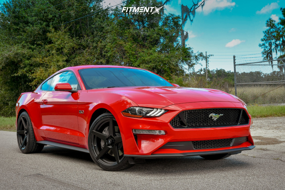 1 2018 Mustang Ford Gt Stock Stock Fathom Stern Black
