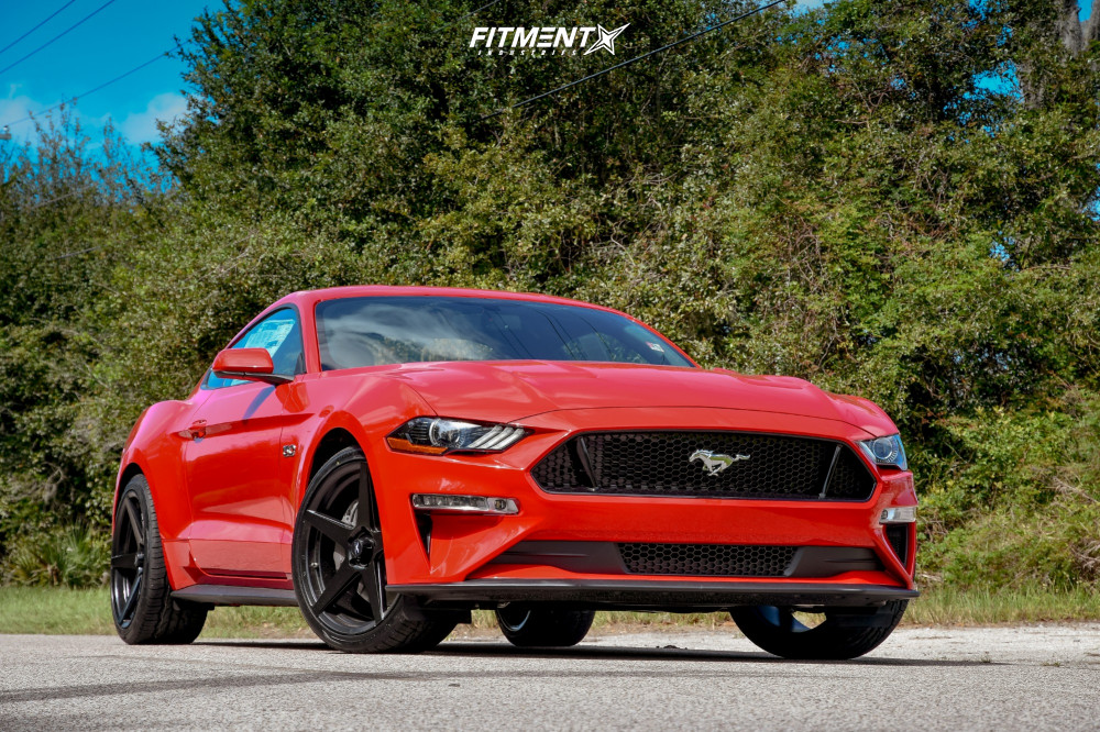 2 2018 Mustang Ford Gt Stock Stock Fathom Stern Black