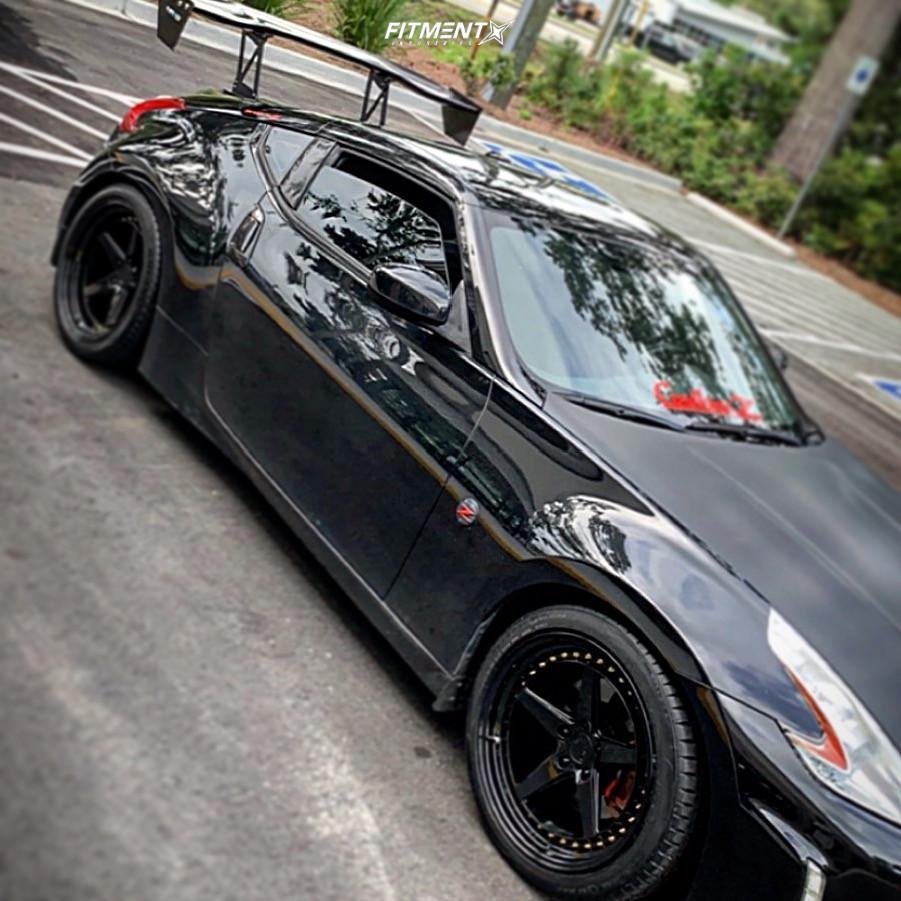 1 2014 370z Nissan Touring Megan Racing Lowering Springs Aodhan Ds05 Black