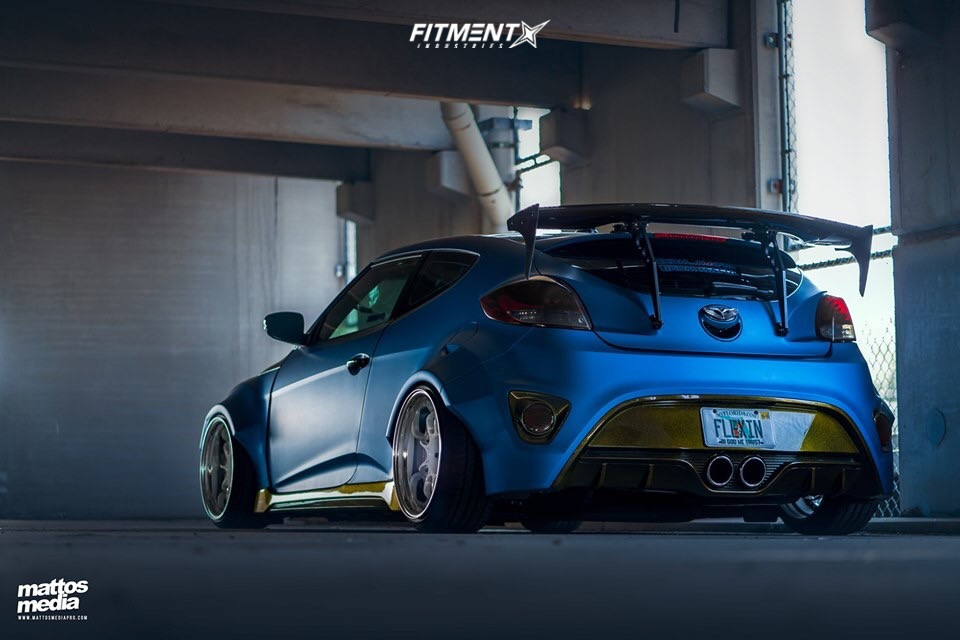 Bagged Veloster with SSR Wheels