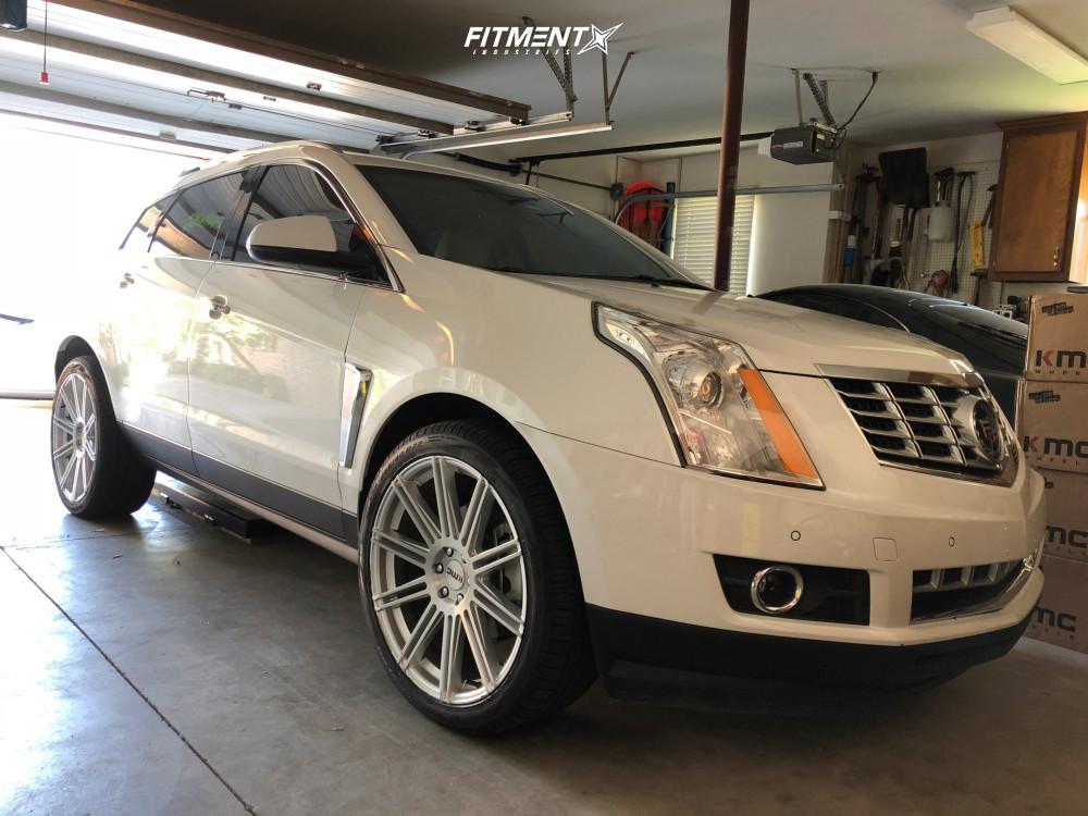 1 2015 Srx Cadillac Premium Stock Stock Kmc Km707 Silver