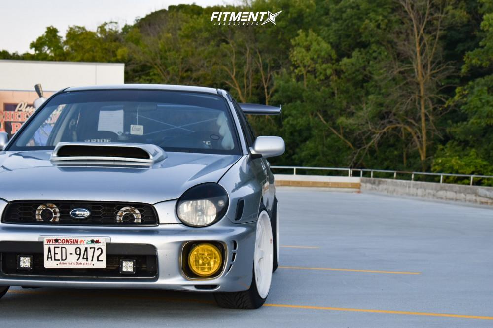 2 2003 Impreza Subaru Wrx Raceland Coilovers Aodhan Ah08 White