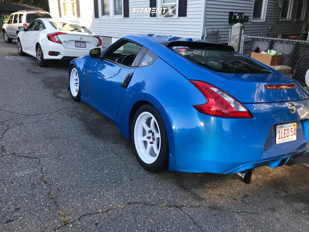 3 2009 370z Nissan Base Tein Stock Aodhan Ah08 White