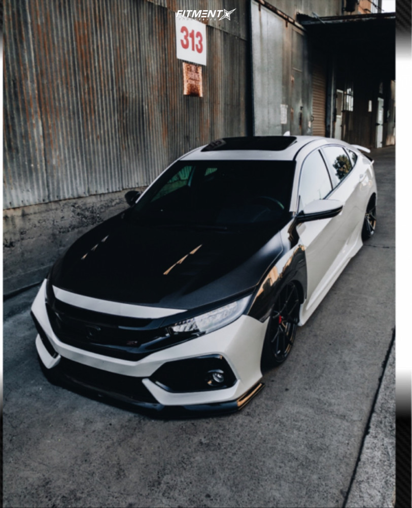 2 2018 Civic Honda Si Airforce Air Suspension Rotiform Kps Black