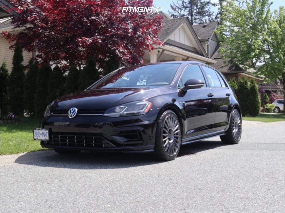 1 2018 Golf R Volkswagen Base Stock Stock Rotiform Buc Anthracite