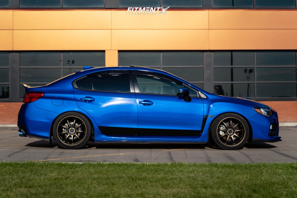 Wrx on coilovers and work wheels