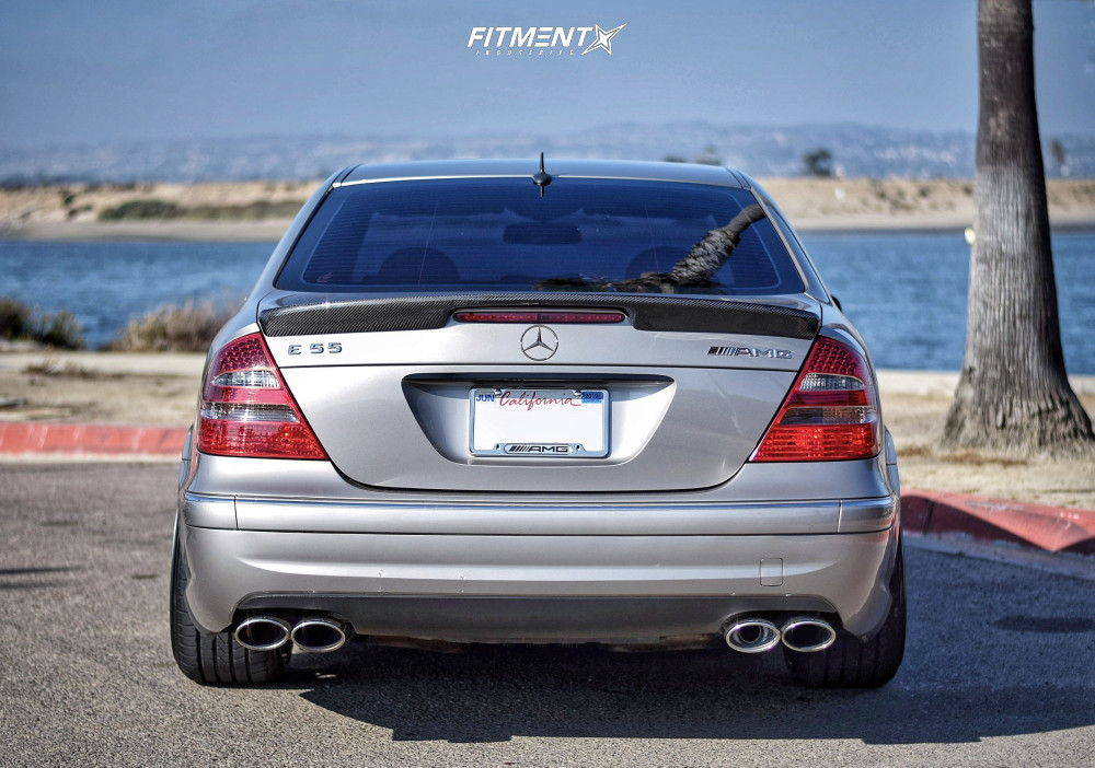 Flush 2004 Mercedes-Benz E55 AMG with 20x10 Rotiform Rse and Accelera Phi 255/30 on Air Suspension - Fitment Industries Gallery