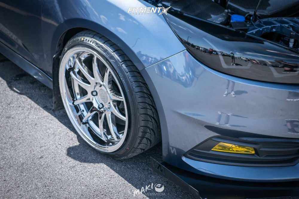 5 2018 Focus Ford St St Coilovers Aodhan Ds02 Chrome
