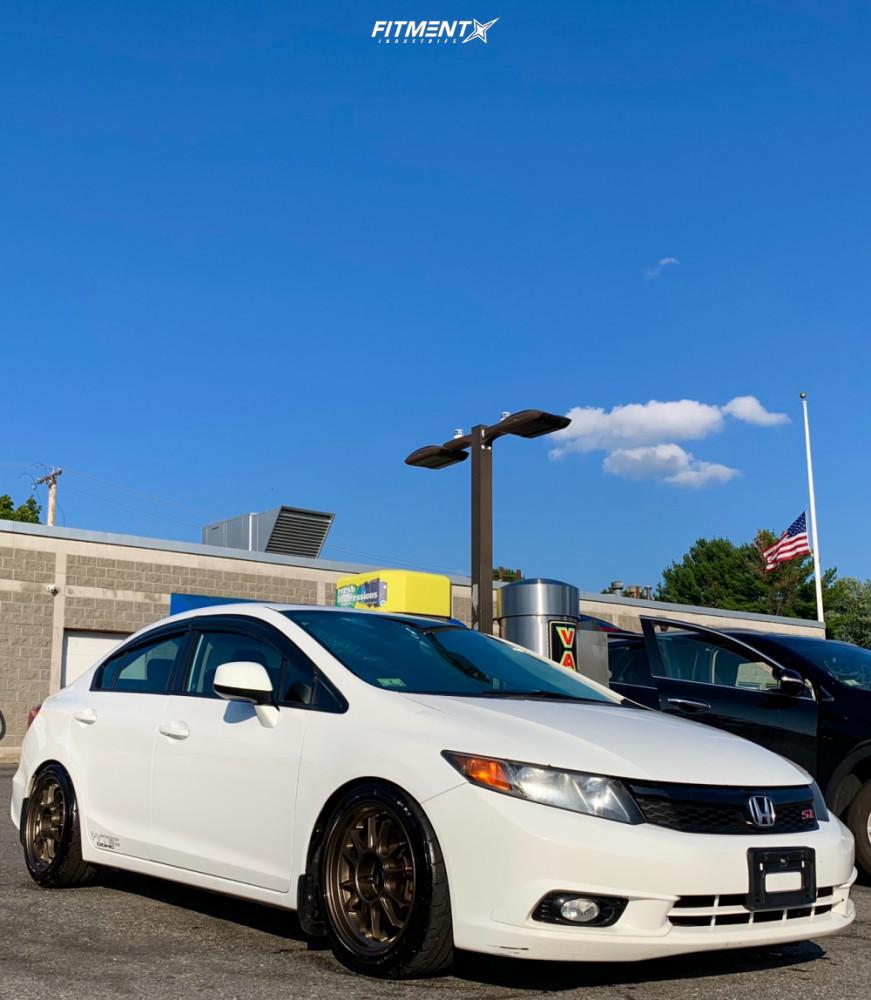 15 2012 Civic Honda Si Godspeed Project Coilovers Konig Hypergram Bronze