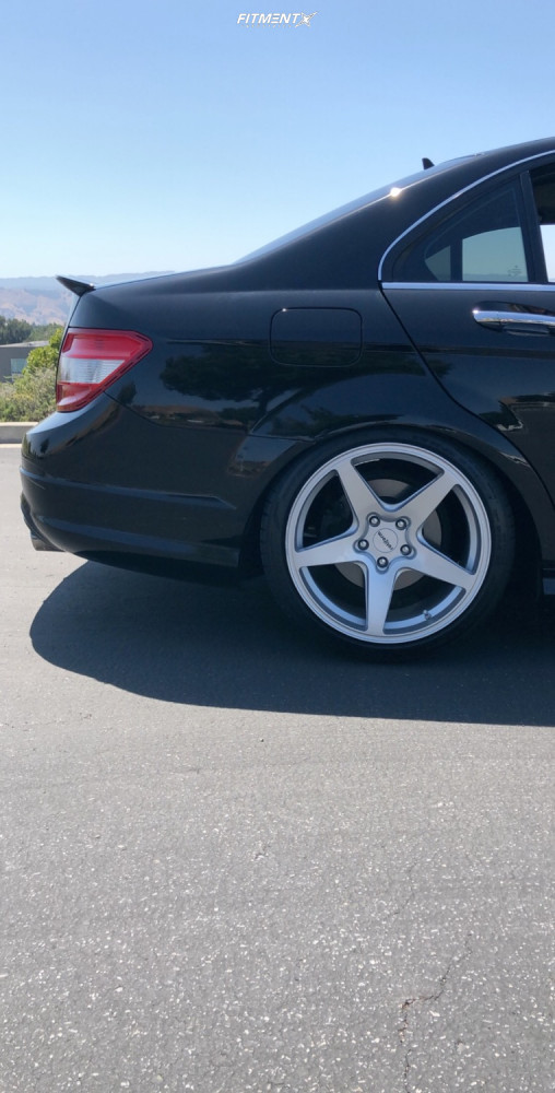 10 2008 C300 Mercedes Benz Base Bc Racing Coilovers Rotiform Wgr Silver