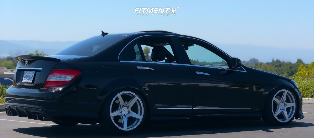 8 2008 C300 Mercedes Benz Base Bc Racing Coilovers Rotiform Wgr Silver