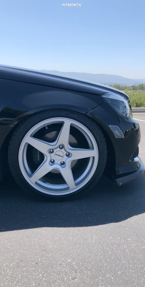 9 2008 C300 Mercedes Benz Base Bc Racing Coilovers Rotiform Wgr Silver
