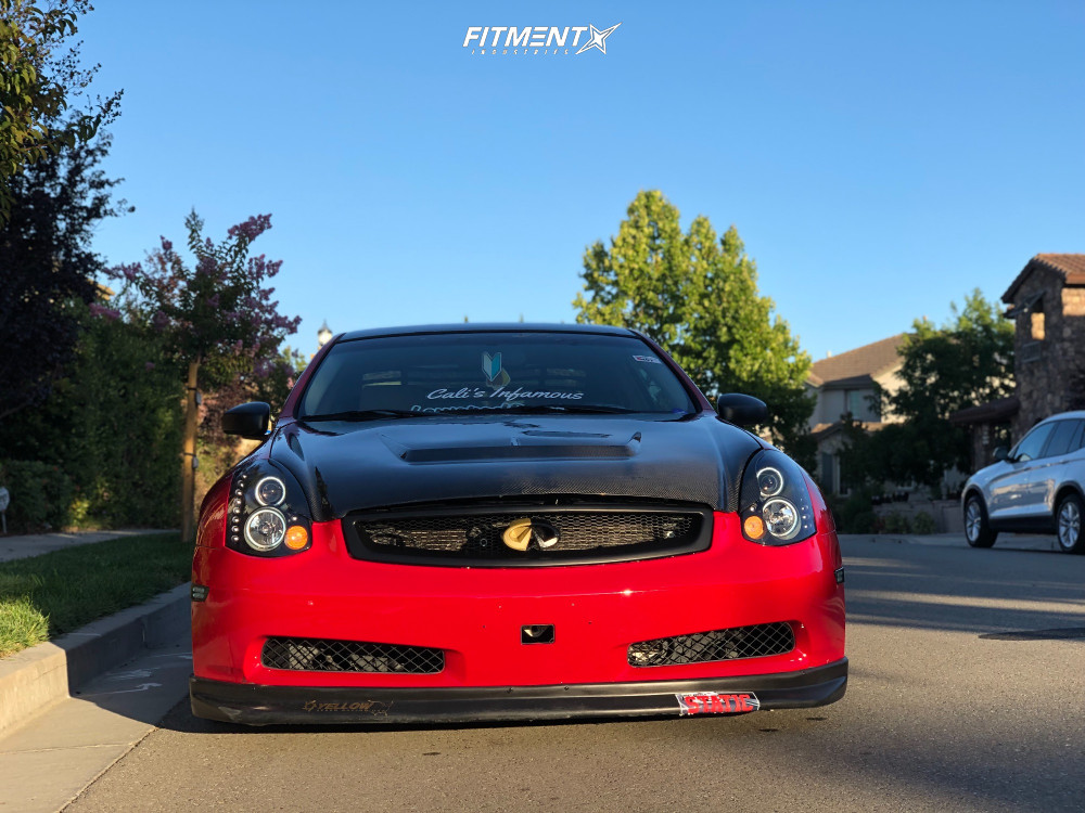 2 2004 G35 Infiniti Rwd 2dr Coupe W Leather 35l 6cyl 5a Truhart Coilovers Aodhan Ds05 Black
