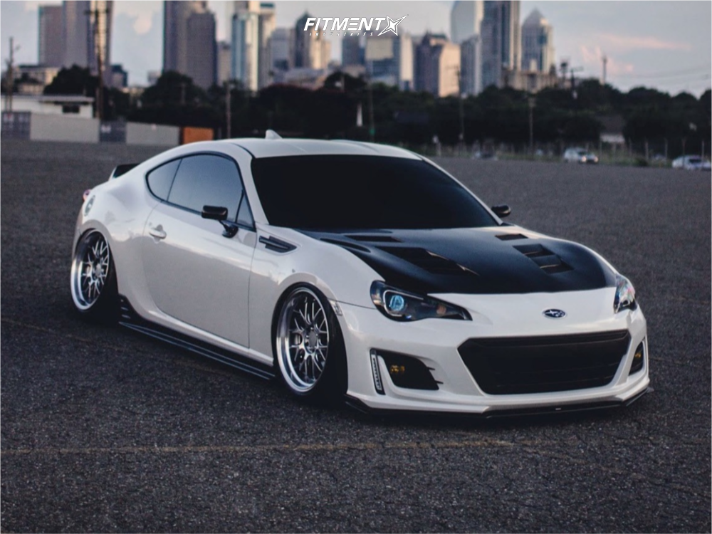 Flush 2015 Subaru BRZ with 18x9.5 F1r F21 and Falken Pro G4 A/s 225/40 on Air Suspension - Fitment Industries Gallery