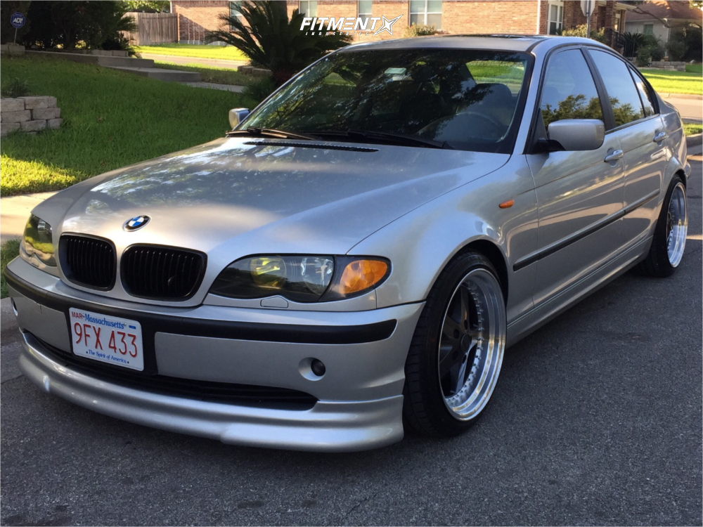 2004 Bmw 325xi Base With 18x9 5 Esr Sr04 And Achilles 225x40 On Lowering Springs 788990 Fitment Industries