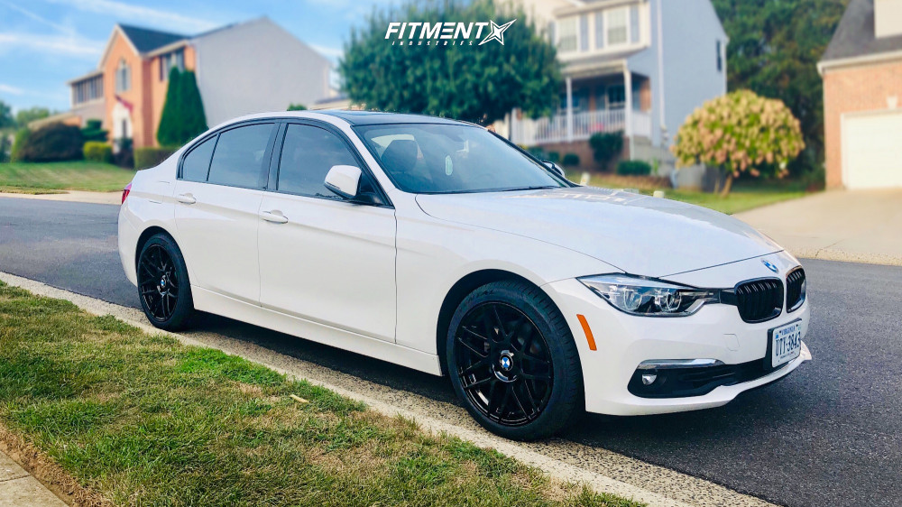 2018 Bmw 330i Xdrive Base With 18x8 5 Curva C300 And Continental 225x45 On Stock Suspension 790061 Fitment Industries