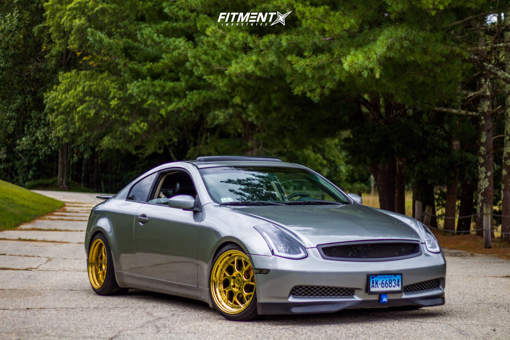 1 2004 G35 Infiniti Rwd 2dr Coupe W Leather 35l 6cyl 6m Bc Racing Coilovers Aodhan Ds01 Gold