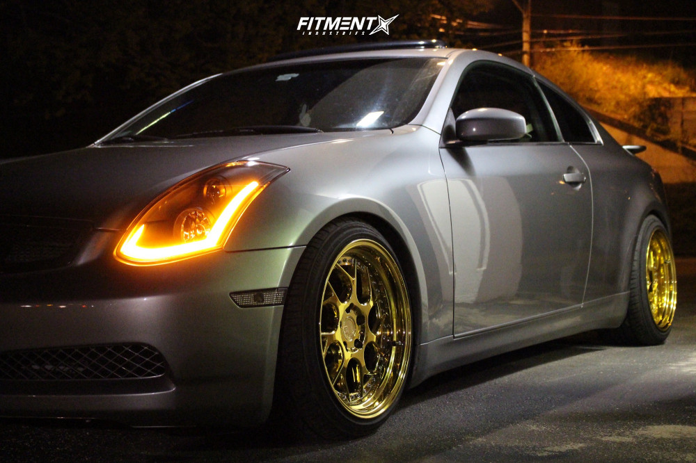 15 2004 G35 Infiniti Rwd 2dr Coupe W Leather 35l 6cyl 6m Bc Racing Coilovers Aodhan Ds01 Gold