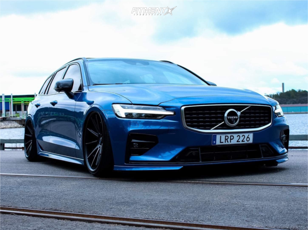 1 2019 V60 Volvo T6 R Design Air Lift Performance Air Suspension Rohana Rc10 Black