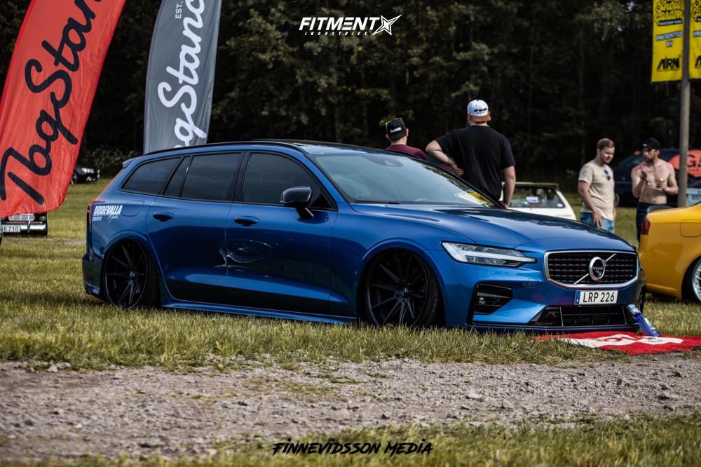15 2019 V60 Volvo T6 R Design Air Lift Performance Air Suspension Rohana Rc10 Black