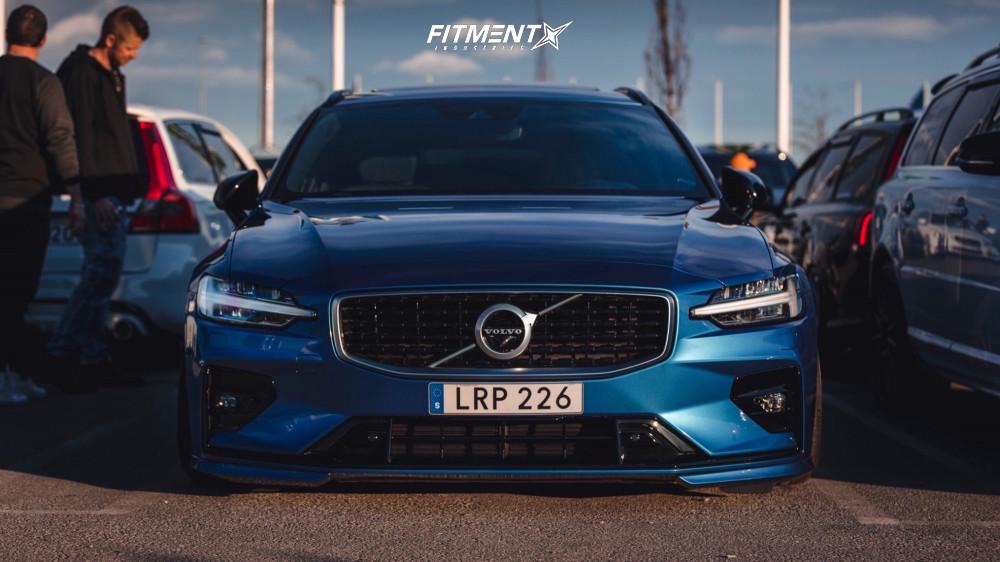 2 2019 V60 Volvo T6 R Design Air Lift Performance Air Suspension Rohana Rc10 Black