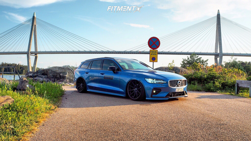 4 2019 V60 Volvo T6 R Design Air Lift Performance Air Suspension Rohana Rc10 Black