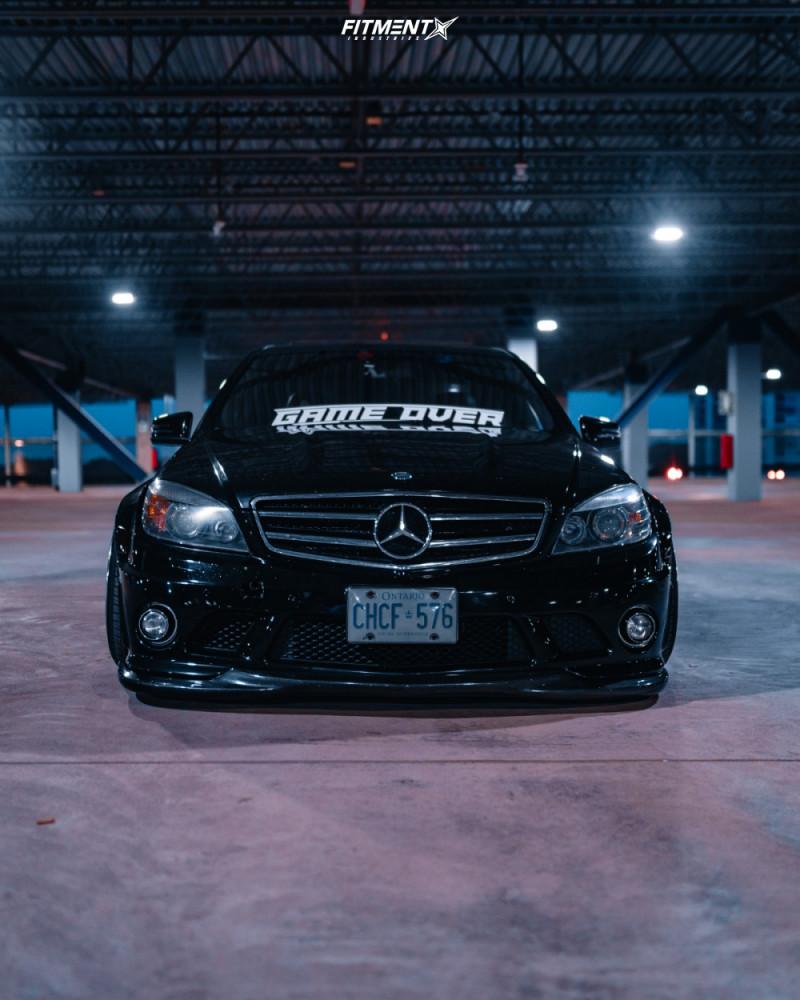 2 2011 C63 Amg Mercedes Benz Base Custom Air Suspension Work Meister S1 3p White
