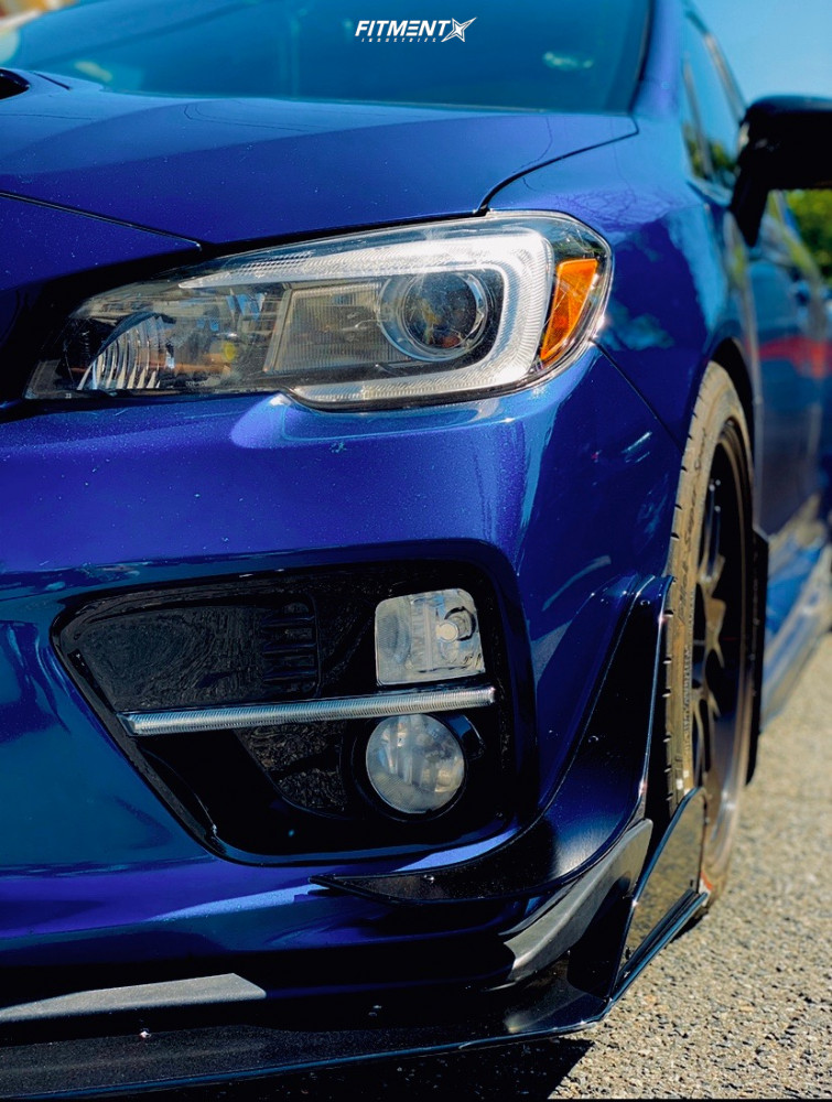 Flush 2015 Subaru WRX with 18x8.5 F1R F21 and Michelin Pilot Sport 245/45 on Lowering Springs - Fitment Industries Gallery