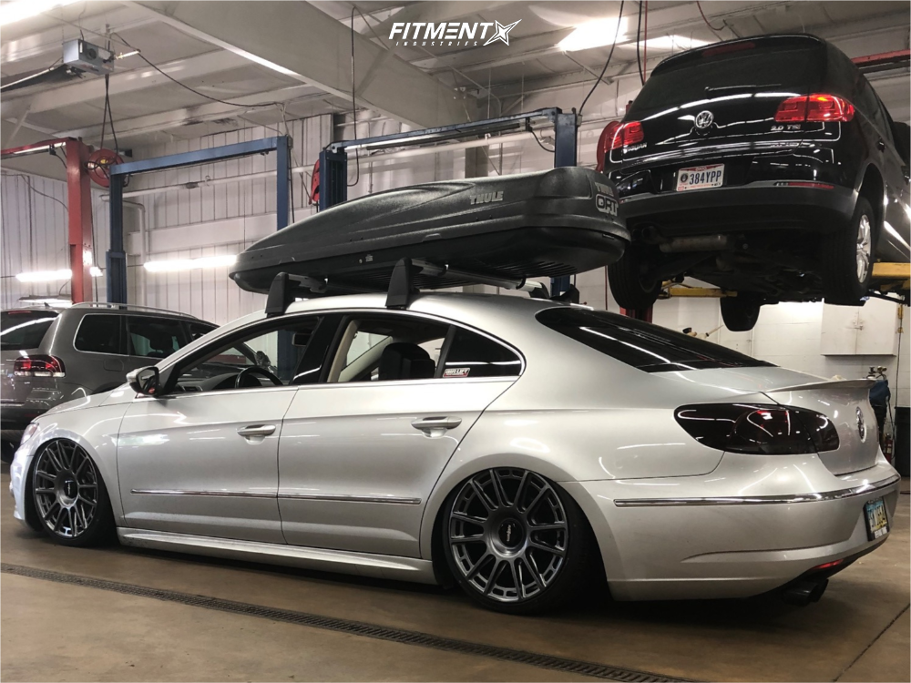 Tucked 2015 Volkswagen CC with 19x8.5 Rotiform Ozr and Michelin Pilot Sport A/s 3 215/35 on Air Suspension - Fitment Industries Gallery