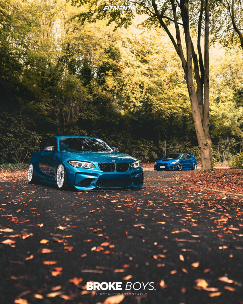 Tucked 2016 BMW M2 with 19x8.5 Rotiform Las-r and Michelin Pilot Sport 4 S 235/35 on Air Suspension - Fitment Industries Gallery