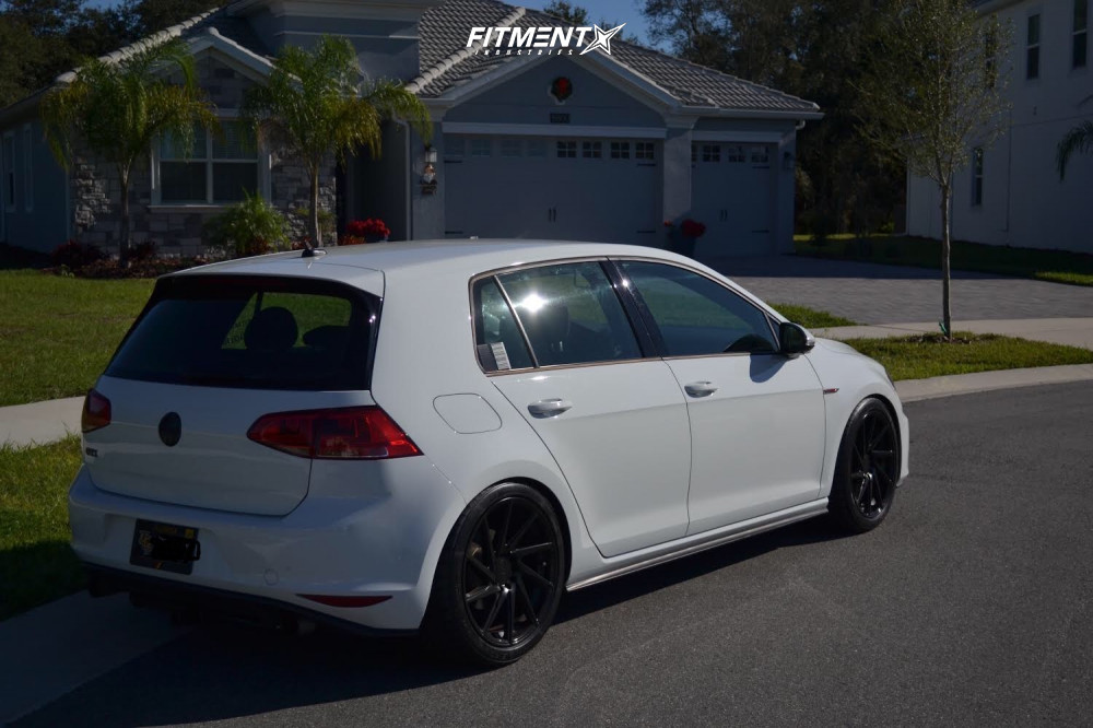 Nearly Flush 2017 Volkswagen GTI with 18x8.5 F1R F29 and BFGoodrich G-force Sport Comp 2 235/40 on Coilovers - Fitment Industries Gallery