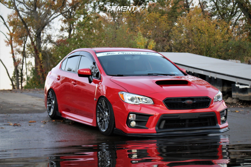 Nearly Flush 2018 Subaru WRX with 18x9.5 Rotiform Rse and Landsail Ls388 245/40 on Coilovers - Fitment Industries Gallery