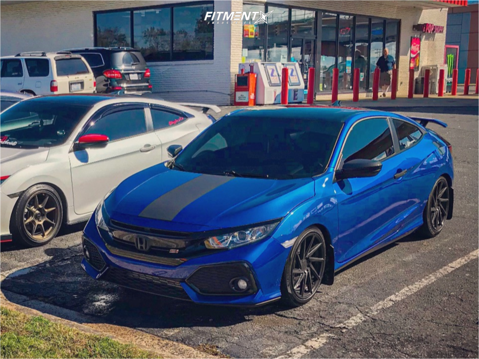Tucked 2017 Honda Civic with 18x8.5 F1R F29 and Michelin Pilot Sport A/s 3 225/40 on Lowering Springs - Fitment Industries Gallery