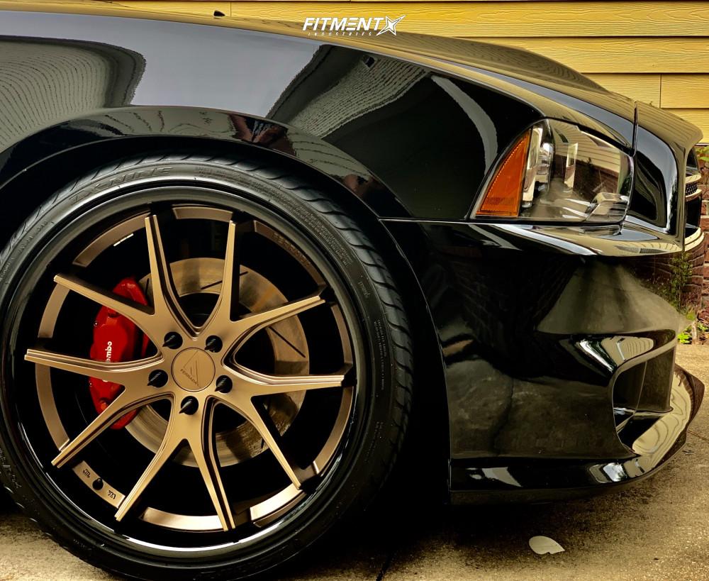 9 2013 Charger Dodge Srt8 Bilstein Stock Ferrada Fr2 Bronze