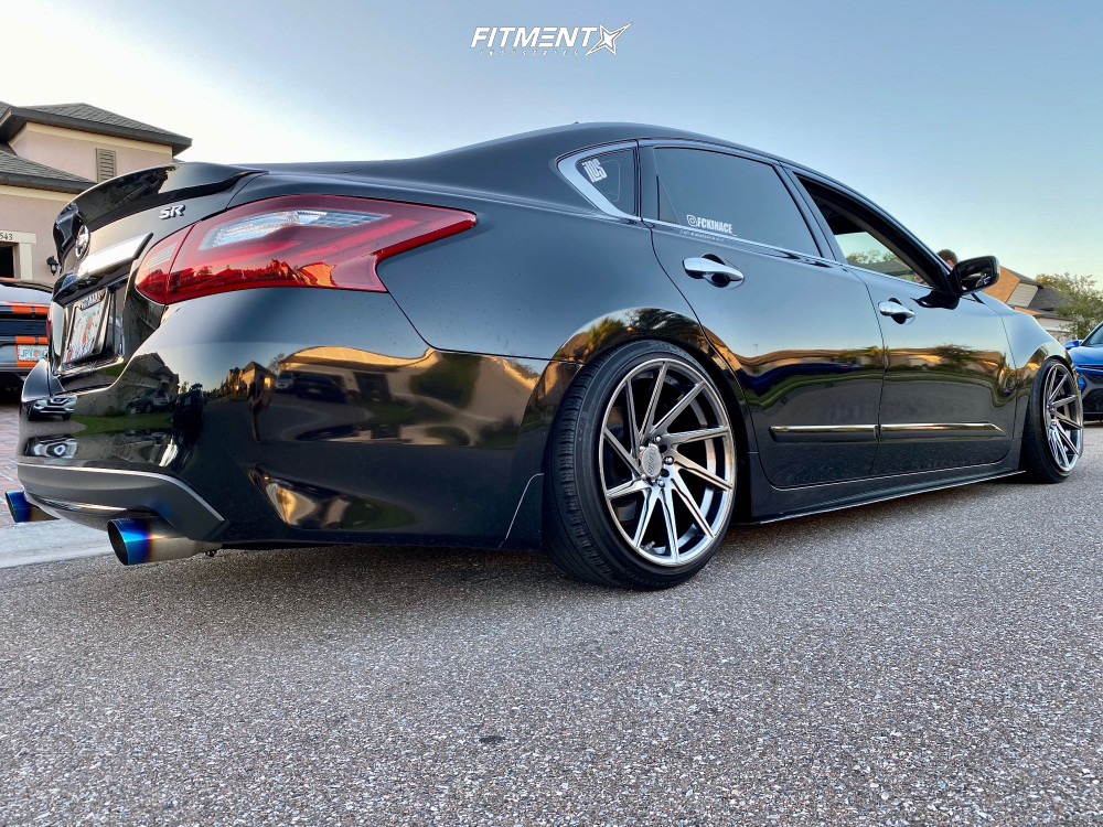Nearly Flush 2017 Nissan Altima with 18x9.5 F1R F29 and Yokohama S Drive 215/40 on Coilovers - Fitment Industries Gallery