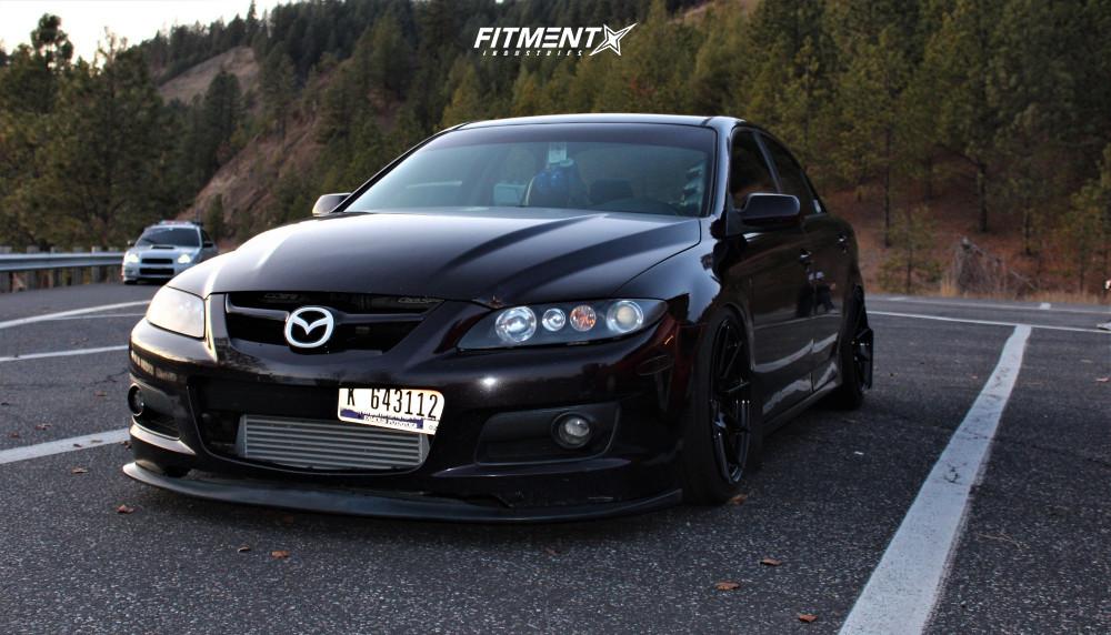 8 2006 Mazdaspeed6 Mazda Base Raceland Coilovers Enkei Ts 10 Black