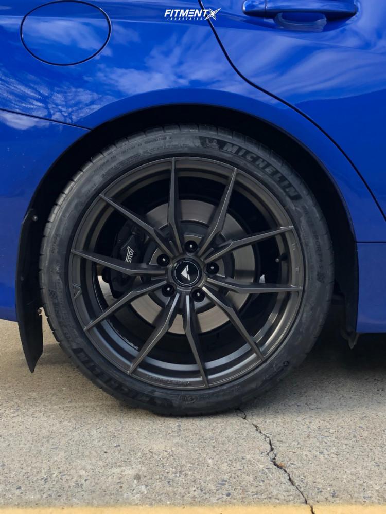11 2017 Wrx Sti Subaru Base Stock Air Suspension Vorsteiner V Ff108 Black