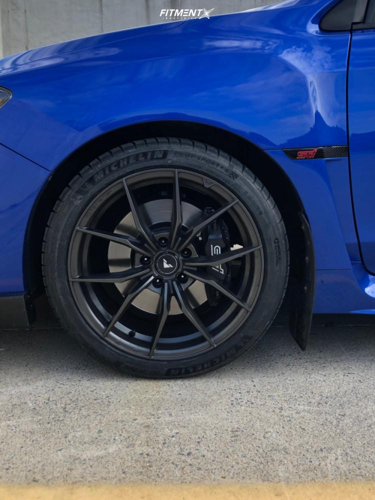 8 2017 Wrx Sti Subaru Base Stock Air Suspension Vorsteiner V Ff108 Black