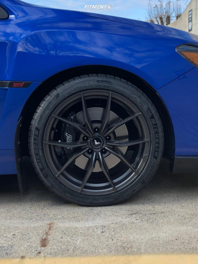 9 2017 Wrx Sti Subaru Base Stock Air Suspension Vorsteiner V Ff108 Black