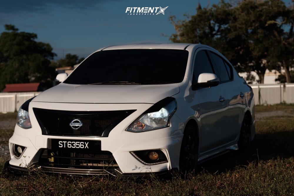 Wheel Offset 2016 Nissan Versa Tucked Stock Fitment Industries