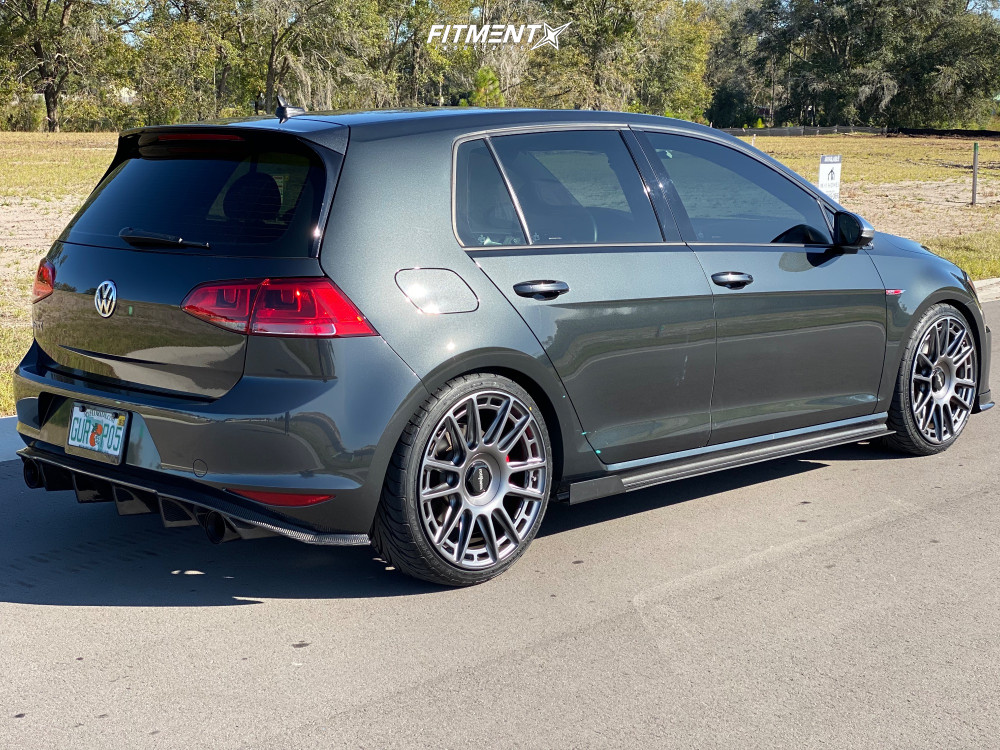 Flush 2017 Volkswagen GTI with 19x8.5 Rotiform Ozr and Federal 595 225/35 on Lowering Springs - Fitment Industries Gallery