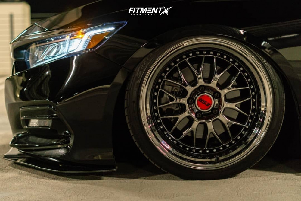 Flush 2018 Honda Accord with 19x10.5 ESR Sr01 and Federal 595 Ss 235/35 on Air Suspension - Fitment Industries Gallery