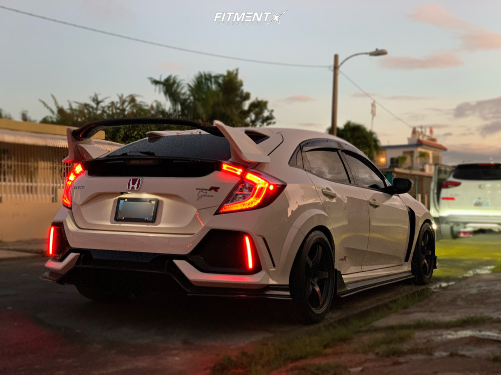 Flush 2019 Honda Civic with 18x9.5 Rays Engineering 57cr and Accelera 651 Sport 265/35 on Lowering Springs - Fitment Industries Gallery