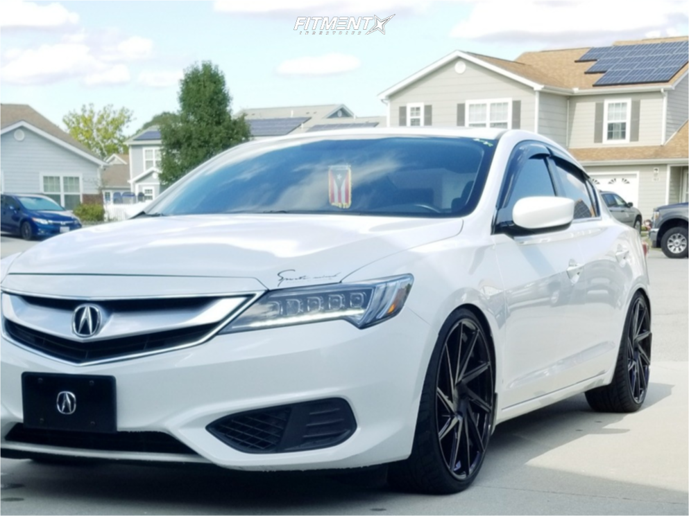 Nearly Flush 2016 Acura ILX with 20x8.5 F1R F29 and Ohtsu Fp8000 235/30 on Coilovers - Fitment Industries Gallery