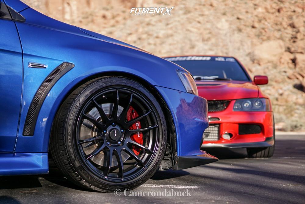 6 2015 Lancer Mitsubishi Evolution Gsr Fortune Auto Coilovers Avid1 Av20 Black