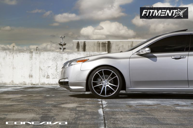 2010 acura tl concavo wheels cw s5 eibach lowered on springs fitment industries. Black Bedroom Furniture Sets. Home Design Ideas