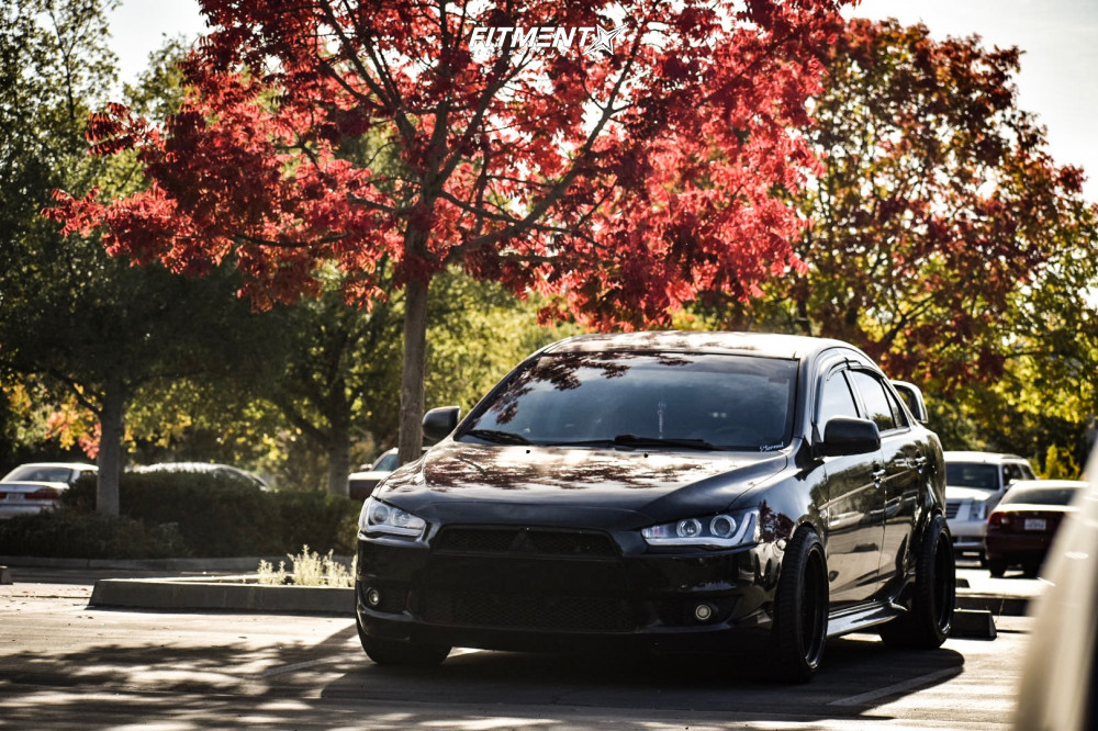 1 2010 Lancer Mitsubishi Gts Tein Coilovers Aodhan Ds01 Black