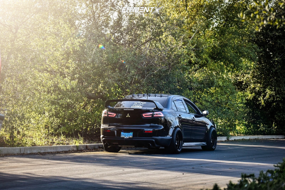 3 2010 Lancer Mitsubishi Gts Tein Coilovers Aodhan Ds01 Black