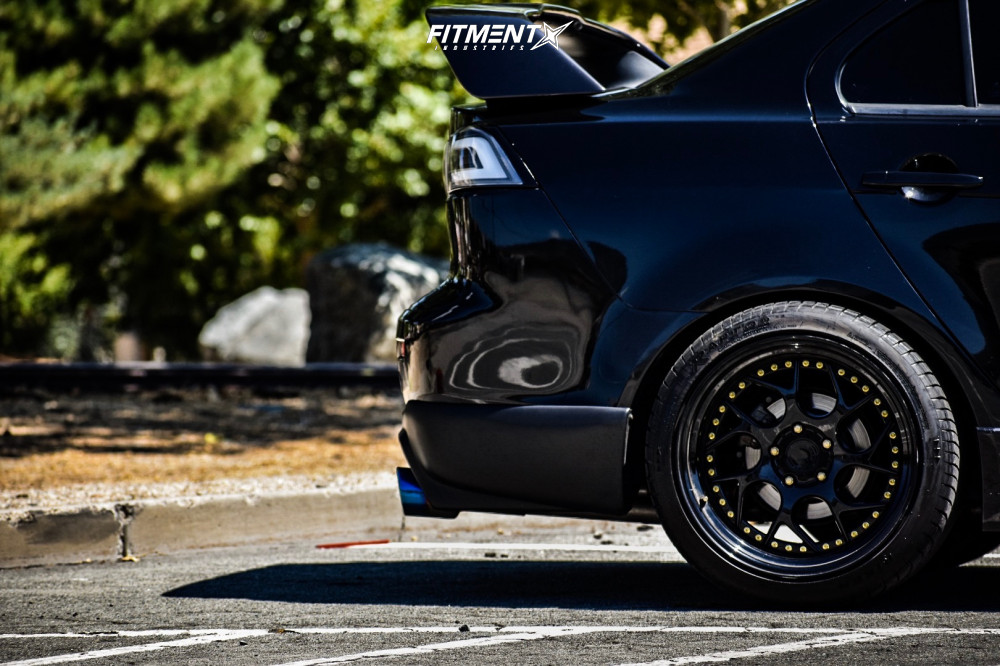 8 2010 Lancer Mitsubishi Gts Tein Coilovers Aodhan Ds01 Black